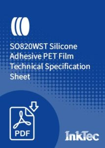 SO820WST Silicone Adhesive PET Film Technical Specification Sheet