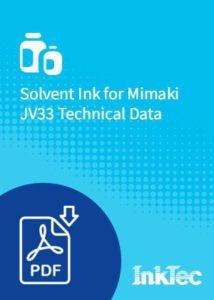 solvent ink for mimaki jv33 technical data