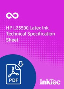 hp l25500 latex ink technical specification sheet