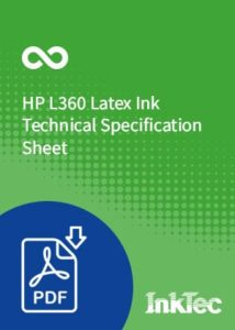 hp l360 latex ink technical specification sheet