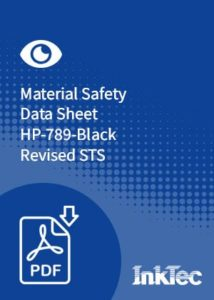 material safety data sheet hp789 black revised sts