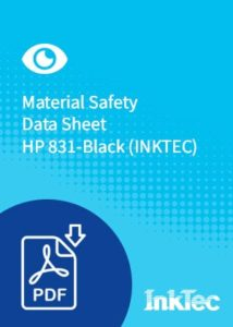 material safety data sheet hp 831 black