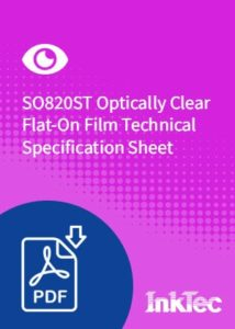 so820st optically clear flat-on film technical specification sheet