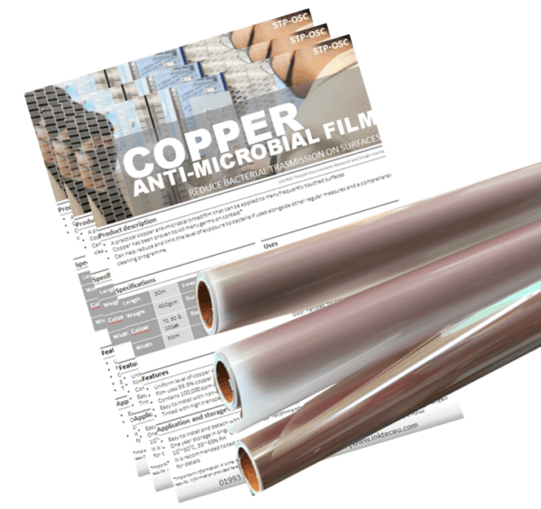 copper antibacterial film covering with antimicrobial copper surfaces for extra safety against viruses and bacteria