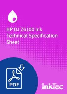 HP DJ Z6100 Ink Technical Specification Sheet