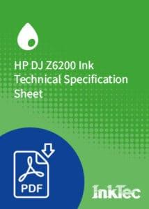 HP DJ Z6200 Ink Technical Specification Sheet